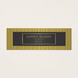 Gold trim and black stripes mini business card