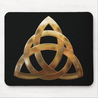 Gold Trinity Knot Mouse Pad