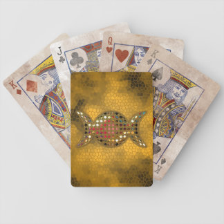 Gold Triple Goddess Wicca Playing Card Deck