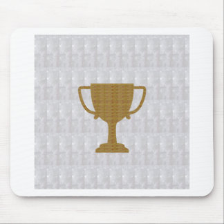 GOLD Trophy Crystal White Background NVN287 Winner Mouse Pad