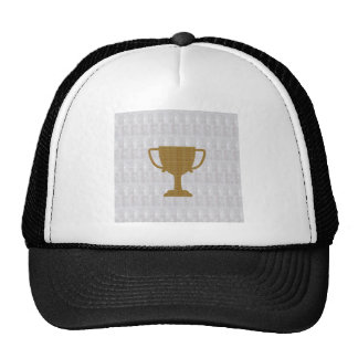 GOLD Trophy Crystal White Background NVN287 Winner Trucker Hat