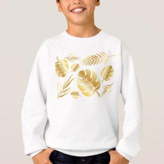 Gold tropical leaves elegant modern pattern design sweatshirt