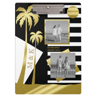 Gold Tropical Palm Trees Beach Instagram Photos Clipboard