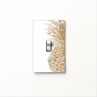 Gold Tropical Pinneapple Light Switch Cover