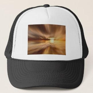 gold trucker hat