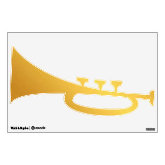 Gold trumpet wall decoration wall decal