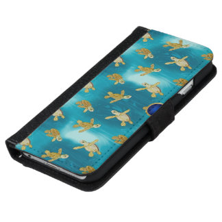 Gold Turtles iPhone 6 Wallet Style Case