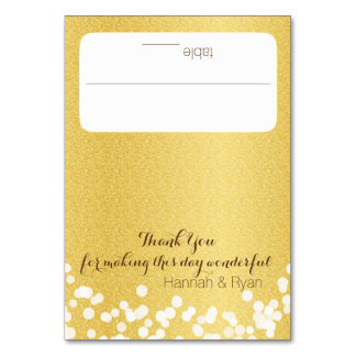 Gold Twinkle Lights Design Card