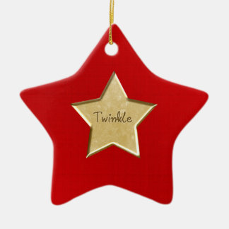 Gold Twinkle Star  Christmas Ornament