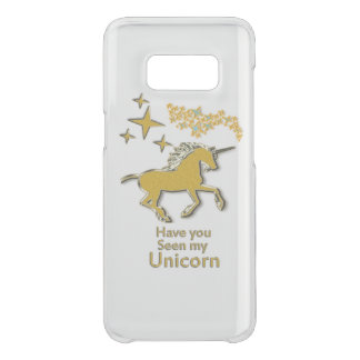 Gold unicorn pony horse with Golden stars Uncommon Samsung Galaxy S8 Case