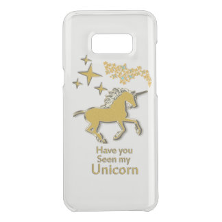 Gold unicorn pony horse with Golden stars Uncommon Samsung Galaxy S8 Plus Case