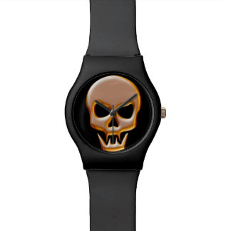 Gold Vampire Skull Watch