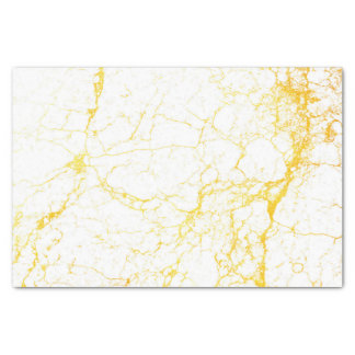 Gold Veined Marble Tissue Paper