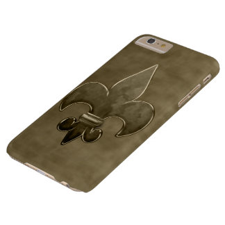 Gold Velvet Fleur De Lis Barely There iPhone 6 Plus Case
