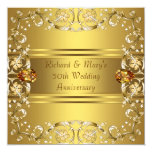 Gold Victorian Flowers Gold 50th Anniversary