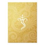 "Gold Vinayaka Wedding Invitations 5"" X 7"" Invitation Card"