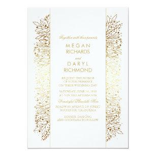 Gold Filigree Wedding Invitations Announcements Zazzle Ca