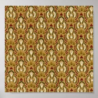 Gold Vintage Geometric Pattern Poster