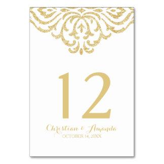 Gold Vintage Glamour Elegance Wedding Invitation Table Cards