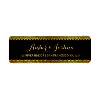 Gold Vintage Lace Gatsby Return Address Label