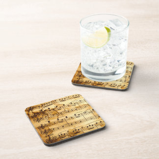 Gold Vintage Sheet Music Coasters