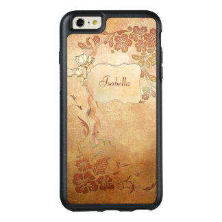 Gold Vintage Style Personalized Floral OtterBox iPhone 6/6s Plus Case