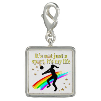 GOLD VOLLEYBALL IS MY LIFE DESIGN PHOTO CHARMS