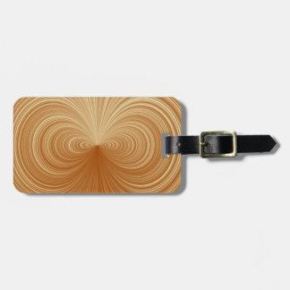 Gold Vortex Luggage Tag