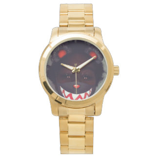 gold watch with my face on it