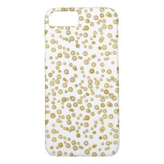 Gold Watercolor Confetti iPhone 7 Case