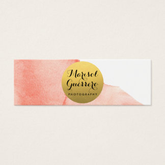 Gold Watercolor Creative Skinny Business Card