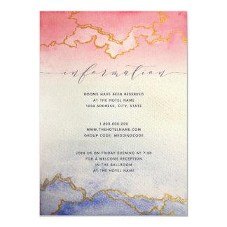 Gold Watercolor Wash| Wedding Information Card