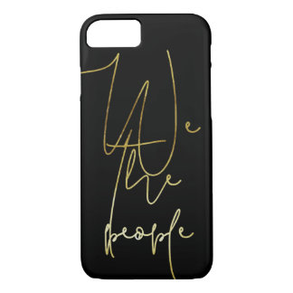Gold We the people Case-Mate iPhone Case