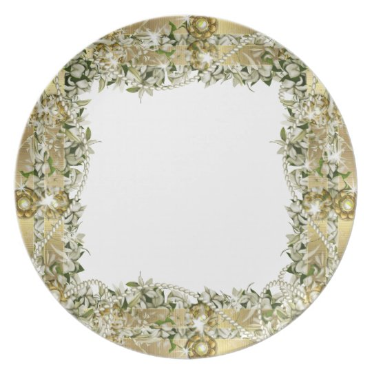 Gold wedding elegant dinnerware