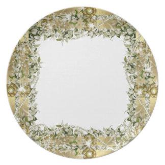 Gold wedding elegant dinnerware dinner plates