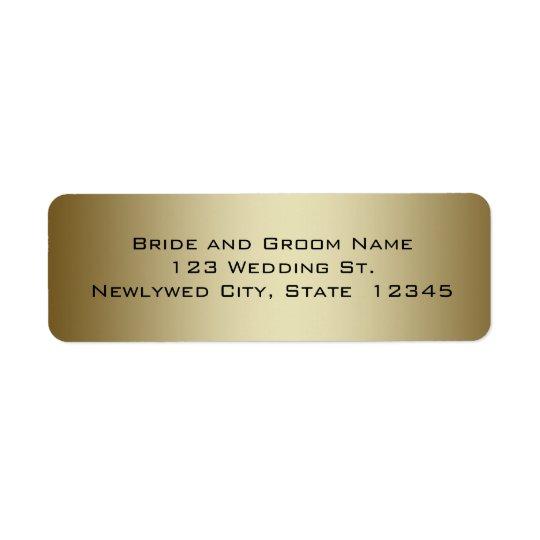 Gold Wedding Return Address Labels