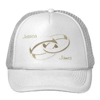 Gold Wedding Rings Art Gifts Trucker Hat