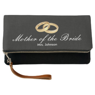 Gold Wedding Rings Mother of the Bride Clutch