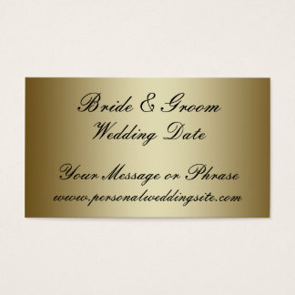 Gold Wedding Website Insert Card for Invitations