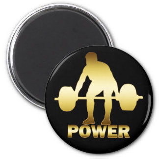 GOLD WEIGHTLIFTER MAGNET