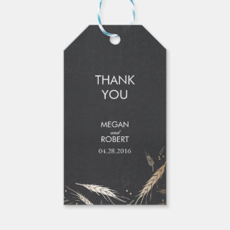 Gold Wheat Fall Chalkboard Wedding Pack Of Gift Tags