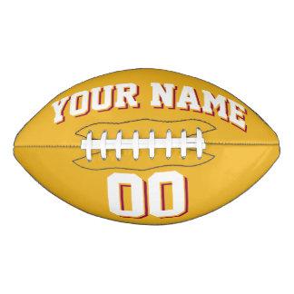 GOLD WHITE AND BURGUNDY Custom Football