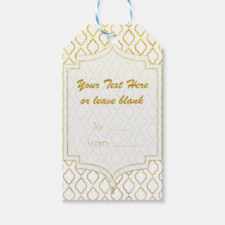 Gold & White Arabian Moroccan Glam Party Favor Gift Tags