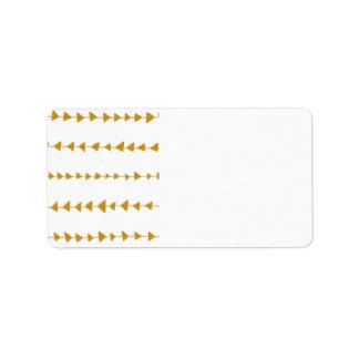 Gold White Aztec Arrows Pattern Label