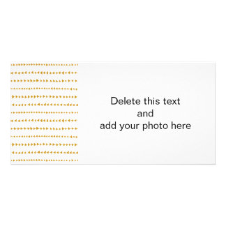 Gold White Aztec Arrows Pattern Customized Photo Card