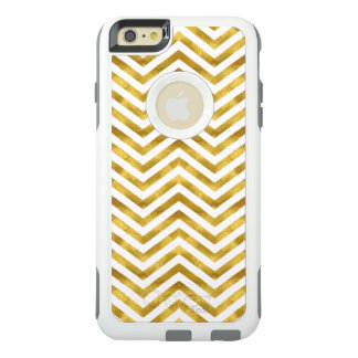 Gold White Chevron OtterBox iPhone 6/6s Plus Case