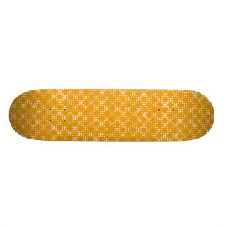 Gold/White Dotted Squares Skateboard Deck