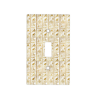 Gold & White Egyptian Egypt Glam Modern Chic Light Switch Cover