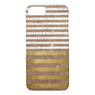 gold & white elegant stripes iPhone 7 case