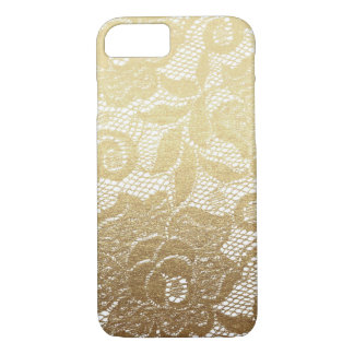 Gold & White Faux Floral Lace iPhone 8/7 Case